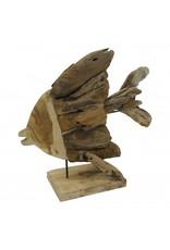 Damn Fish on stand wood 45 cm