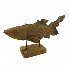 Damn Fish wood on stand 65 cm