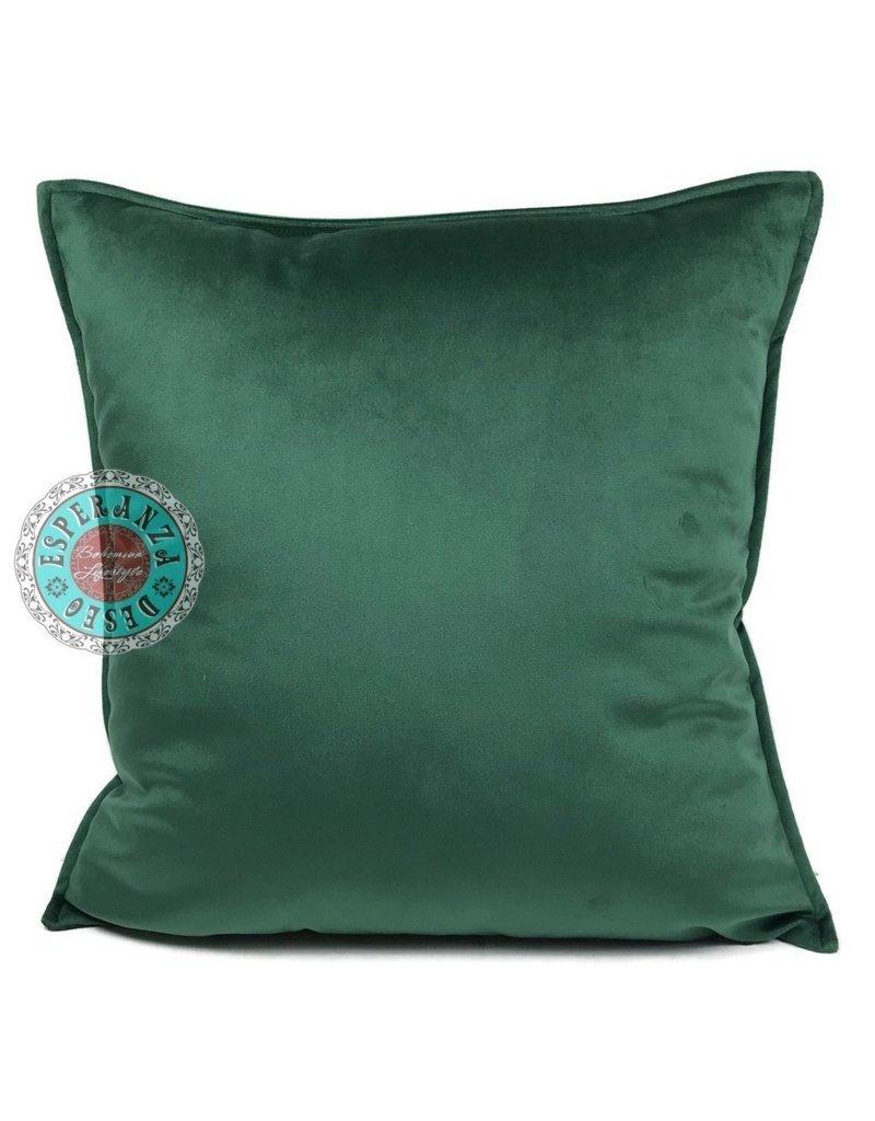 esperanza-deseo Velvet kussen groen 45 x 45