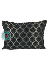 esperanza-deseo Honingraat black kussenhoes/cushion cover ± 50x70cm