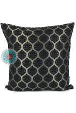 esperanza-deseo Honingraat black kussenhoes/cushion cover ± 45x45cm