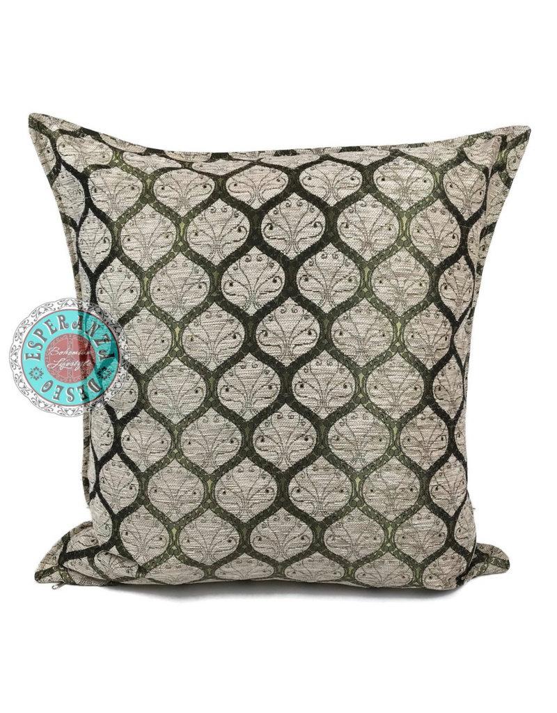 esperanza-deseo Honeycomb cream pillow case / cushion cover ± 70x70cm - Copy
