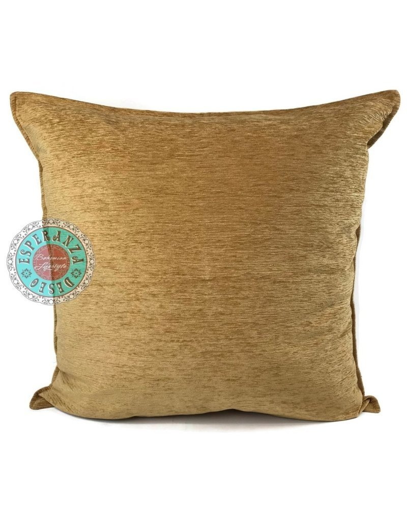 esperanza-deseo Camel gold kussenhoes/cushion cover ± 70x70cm