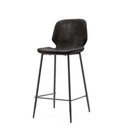 By-Boo Bar chair Seashell low black