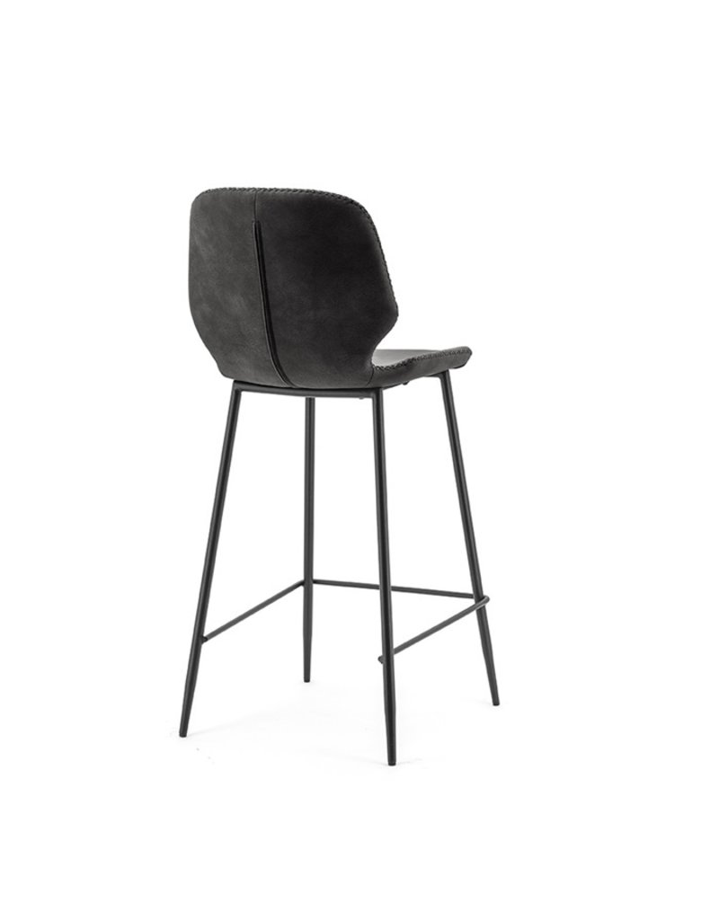 By-Boo Bar chair Seashell low black