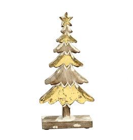 Damn Wooden tree gold 30 cm