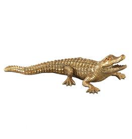 Damn Krokodil goud 30 cm