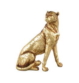 Damn Leopard goud 21 cm