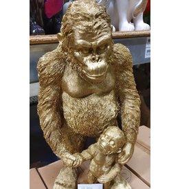 Damn Beeld aap goud 50 cm hoog