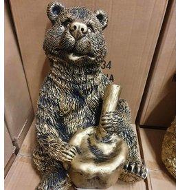 Damn Beeld beer brons 30 cm  hoog