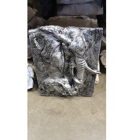 Damn Olifant op plaat zilver
