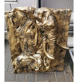 Damn Olifant op plaat brons