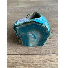 Damn Waxinehouder natuursteen turquoise