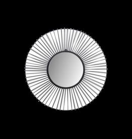 Damn Wandspiegel Tarifa - ø90 - Ijzer - zwart