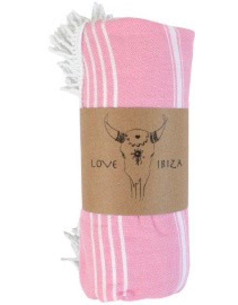 Love Ibiza Hamam roundie Pink