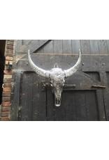 Damn Skull gegraveerd indiaan zilver 68 x 80 cm