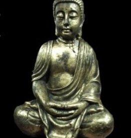 Damn Buddha handen op schoot
