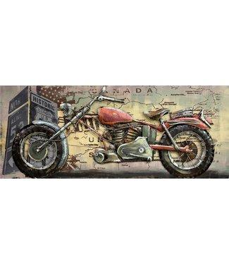 3D Art Red Motor Canada - Metalen 3D schilderij