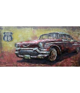 3D Art Chevrolet Oldtimer - Metalen 3D schilderij