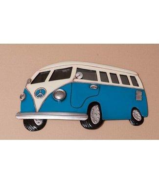 Wand decoratie Metalen 3D wanddecoratie - Volkswagen Bestelbus met spiegel