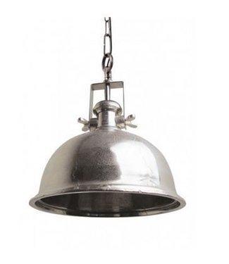 Home Industriële hanglamp - Boston Raw Nickel