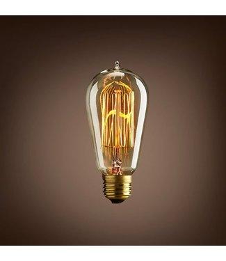 Industriële gloeilampen - Kooldraadlamp Retro E27