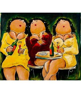 Theo Broeren - De drie gezusters aan de wijn