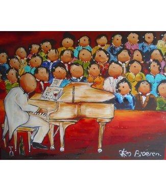 Theo Broeren - Optreden van het Dikke Dames koor