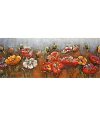 3D Art Beautiful Flowers - Metalen 3D schilderij