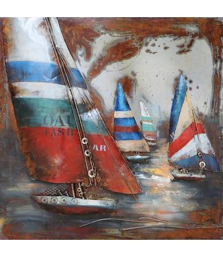 3D Art Metalen 3D schilderij - Holland Sail