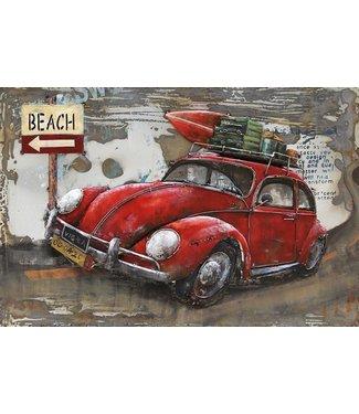 3D Art Metalen 3D schilderij - To the Beach