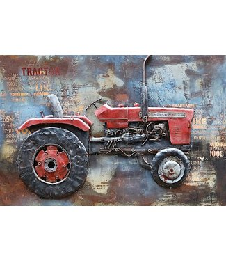 3D Art Metalen 3D schilderij - Tractor