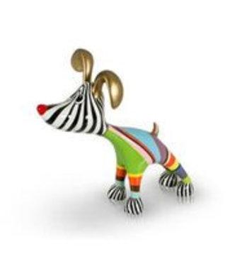 Stretching Dog Billie - Multi Color Gold