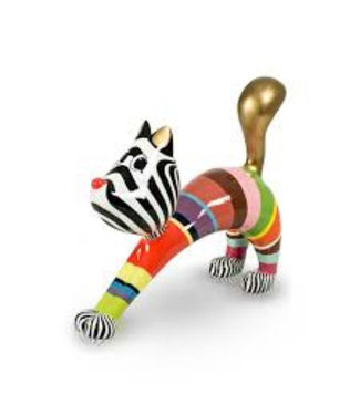Stretching Cat Hillie - Multi Color Gold