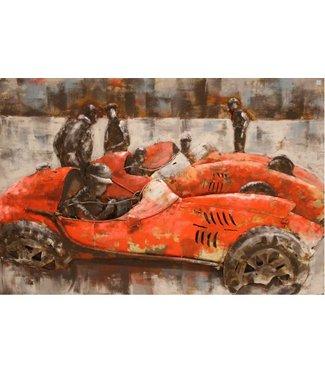 3D Art Metalen 3D schilderij - Rally Monaco