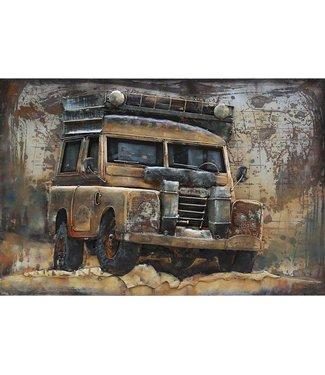 3D Art Metalen 3D schilderij - Land Rover