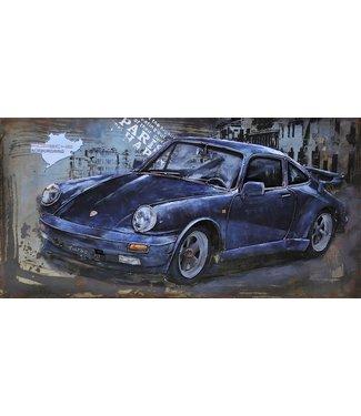 3D Art Metalen 3D schilderij - Classic Car Porsche