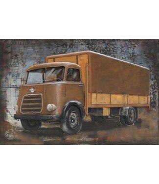3D Art Metalen 3D schilderij - DAF vrachtwagen