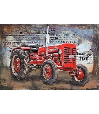 3D Art Massey Ferguson Tractor - Metalen 3D schilderij