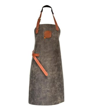 BBQ schort - Ruw antiek zwart / zand