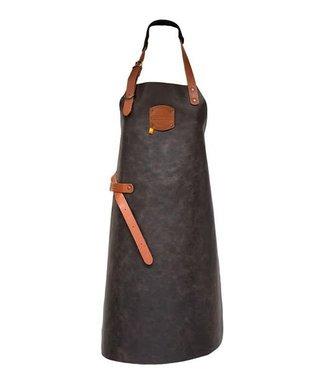 BBQ schort - Antiek bruin leder
