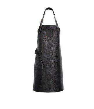 BBQ schort - Kaaiman print zwart leder