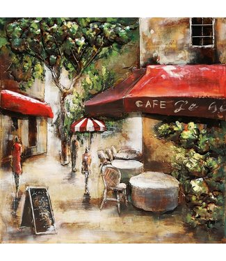 3D Art Metalen 3D schilderij - Café La Terrasse