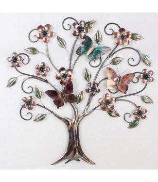 Wand decoratie Metalen 3D Wanddecoratie The Tree of Life