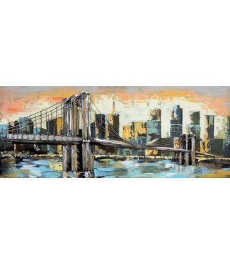 3D Art Brooklyn Bridge - Metalen 3D schilderij