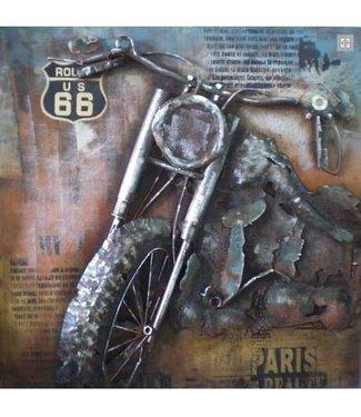 3D Art Harley Davidson - Metalen 3D schilderij