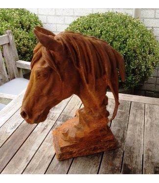 Beeld van gietijzer - Paardenhoofd