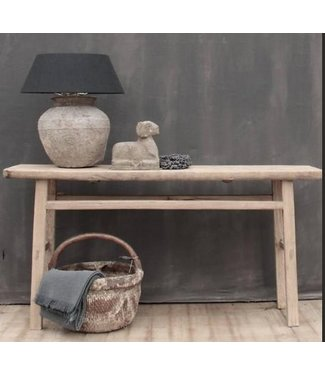 Side table - Antiek drift wood Side Table fraai doorleefd hout