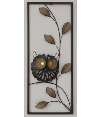 Wand decoratie Metalen 3D wanddecoratie - Uil