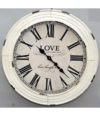 Home 'Love' Klok met witte rand